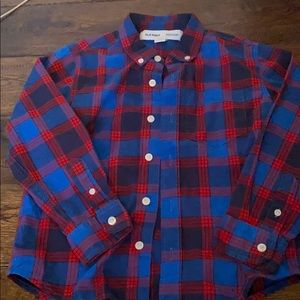 Red and Blue Button Down